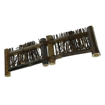Mini Fence Home Chinese Style Tea Ceremony Natural Bamboo Rustic Decor XL#3