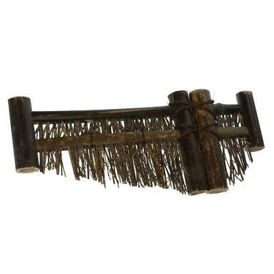 Mini Fence Home Chinese Style Tea Ceremony Natural Bamboo Rustic Decor L#2