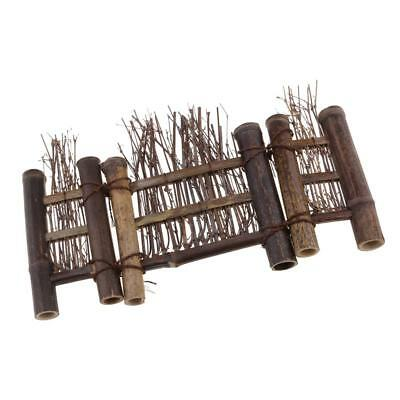 Mini Fence Home Chinese Style Tea Ceremony Natural Bamboo Rustic Decor S#4