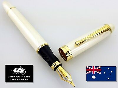 JINHAO X450 Pearl Curve Fountain Pen Medium Nib + 5 Free Black Cartridges