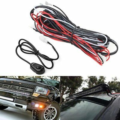 LED Work Light Bar Wiring HID Driving Loom Harness Switch Relay Kit 12V 40A 2M U
