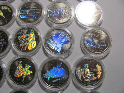 State Quarter 1999-2003 Single Hologram  Silver Background New Coin Capsule