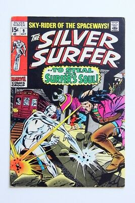 """Silver Surfer #9_October 1969_Fn +_""""to Steal The Surfer's Soul""""_Silver Age!"""