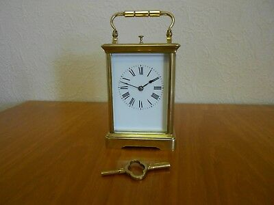 Repeater carriage clock in polished brass case circa 1920
