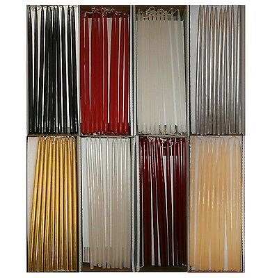 Thin Taper Candles 300mm Tall (9mm-10mm) Wide