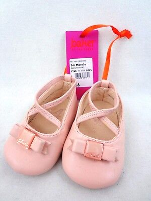 2f9b0d49c0a247 Ted Baker Baby Girls Pink Leather Ballerina Shoes 3-6 Months Worn Once
