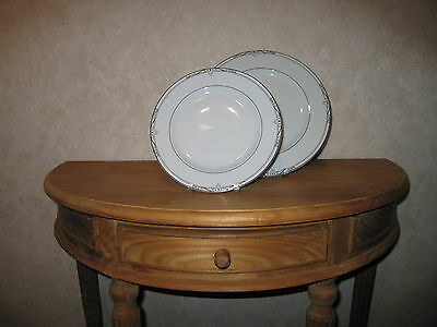 PHILIPPE DESHOULIERES *NEW* SCALA Platine 6823 Set 2 Assiettes Set 2 plates
