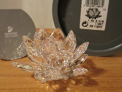 SWAROVSKI *NEW* Nénuphar bougeoir Waterlily Candleholder 011867 Diam.7,6cm