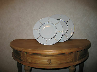 PHILIPPE DESHOULIERES *NEW* BALTIK Gris Platine 7203 Set 2 Assiettes
