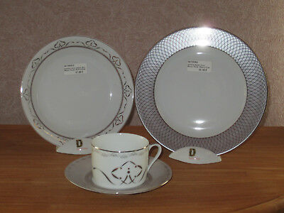 PHILIPPE DESHOULIERES *NEW* MARGOT TAUPE Set 2 Assiettes + 1 Tasse