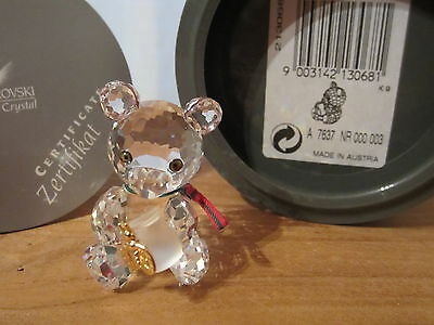 SWAROVSKI *NEW* Kris le Nounours avec pot miel Bear Honey Pot 213068 H.3,8cm