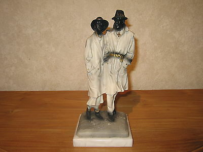 *NEW* Posture Figurine Couple H.25cm blanc/noir