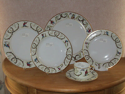 PHILIPPE DESHOULIERES *NEW* SONGES DU XVIIIEME 6294 Set 4 Assiettes + 1 Tasse