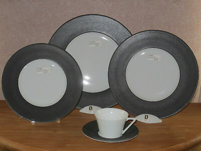 PHILIPPE DESHOULIERES *NEW* GALILEUM GRAPHITE 7308 Set 3 Assiettes + 1 Tasse Cup