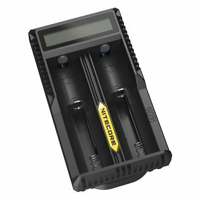 New NITECORE UM20 DIGI CHARGER For AA 18650 18500 14500 18350 16340 LCD SCREEN