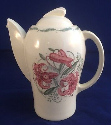 "Susie Cooper Kestrel Shape ""Tiger Lily"" Coffee Pot"