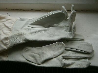 1 Pair Beekeeping Gloves kidskin Bee Keeping Equip cotton arms, new. size 10