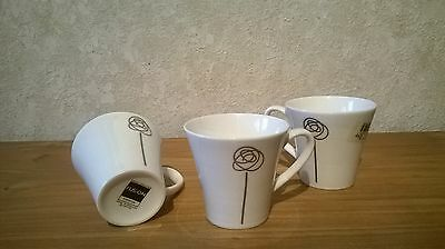 ROYAL DOULTON *NEW* Fusion Flirtation Set 3 tasses seules Cups without saucers