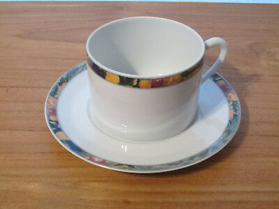 PORCELAINE CNP *NEW* OXFORD VERGERS 1 tasse + soucoupe 1 cup
