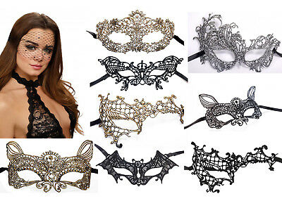 K17 - Ladies Dreamgirl/Mapale Masquerade Lace Eye Mask - Ball Fancy Dress Party