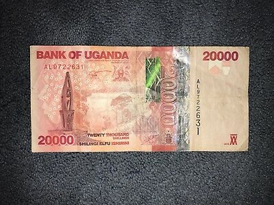 20,000 Shilling UGANDA banknotes 2010 world money , world currency
