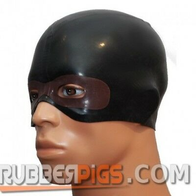 Rubber latex hero mask, rubber clothing face mask gummi fetish play fantasy