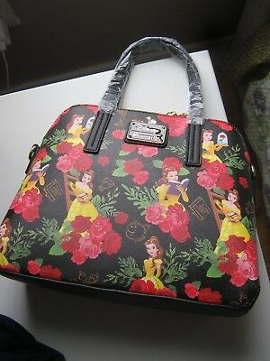 Beauty And The Beast Official Loungefly Disney Limited Hand Bag Satchel New Real