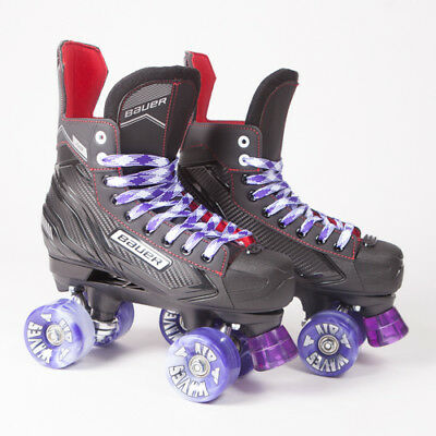Bauer Quad Roller Skates - NS - 2018 Model -  Purple/White Airwaves