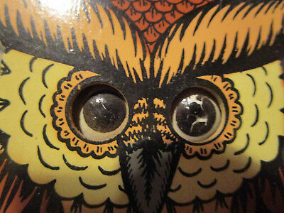 Small Owl Cuckoo Clock With Moving Eyes Made In Germany