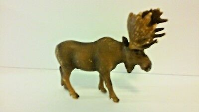 Schleich 2002 Moose Brown Male Bull North American Animal Series GUC