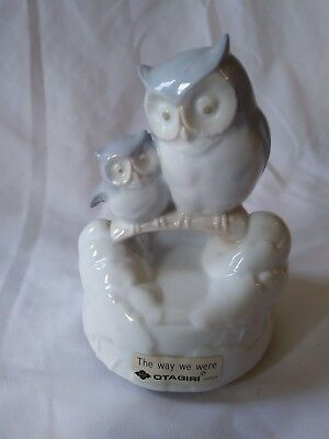 Vintage Otagiri The Way We Were Made In Japan Two Owls Music Box