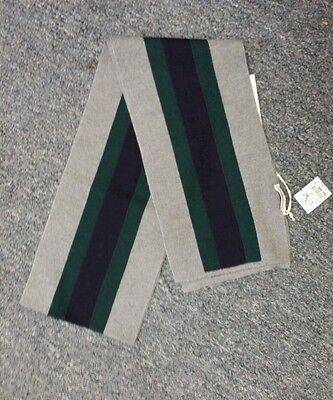 NWT NEW Gucci kids boys girls beautiful gray navy blue green web striped scarf