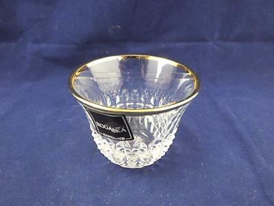 Rogaska Glass Crystal Diamond Gold Coffee Glasses Set of Six Special Offer.