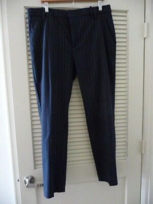 Marks & Spencer Collection Navy Blue Pinstripe Pants Size 14