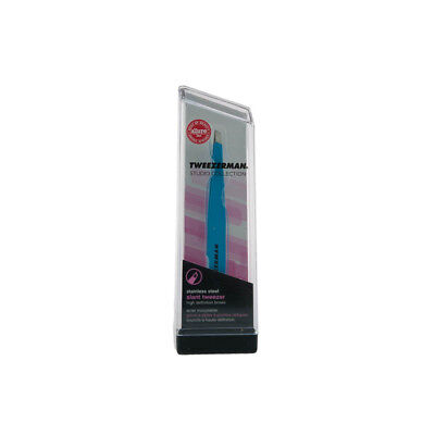 Tweezerman Stainless Steel Tweezers - Blue Mini Slant
