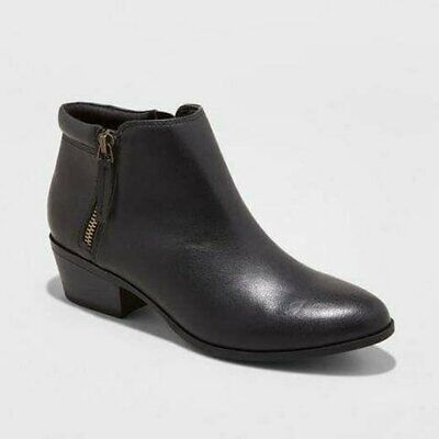 Mossimo Women's Rita Double Side-Zip Ankle Boots - Black - Pick Size