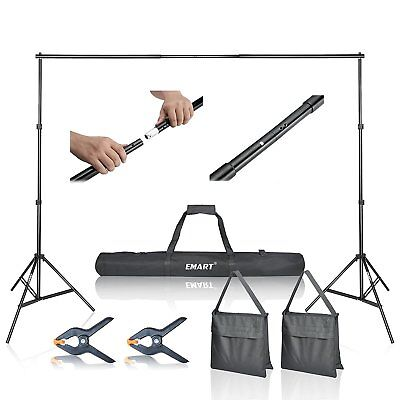Step & Repeat 10 Banner Stand Adjustable Telescopic Trade Show Backdrop w/ Case