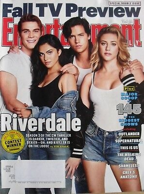 RIVERDALE Sept. 2017 ENTERTAINMENT WEEKLY Magazine WALKING DEAD / SUPERNATURAL