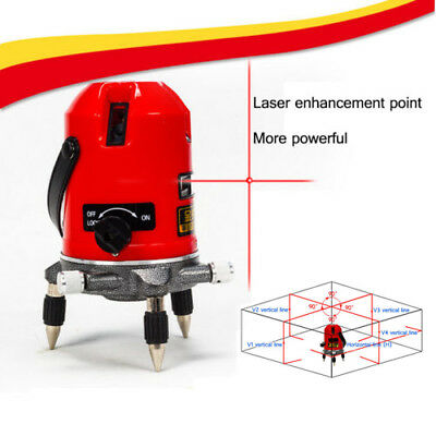 5 Line 6 Point Automatic Self Leveling Rotary Laser Level Meter Measure+ Toolbox