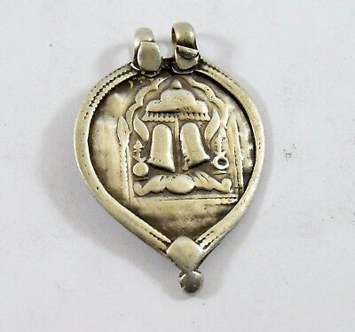 Vintage Rare Beautiful Real Silver Tribal Hindu God Amulet Pendant. G10-73