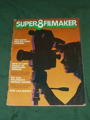 70s SUPER 8 FILMAKER Magazine Retro 8mm Film Movie Tips Effects March April 1978