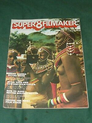 70s SUPER 8 FILMAKER Magazine Retro 8mm Film Movie Tips Effects 3D December 1977