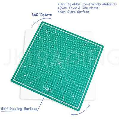 5 Ply Thick Self Healing Rotating Craft Cutting Mat 35x35 cm with Non-Slip Base