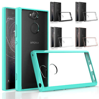 Transparent Clear Hard Shockproof Back Cover Case For Sony Xperia XA2/Ultra/XZ2
