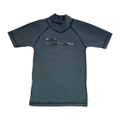 NEW Classic short sleeve rashie for boys in Surfing Dogs Grey by Mini Sandcrabs