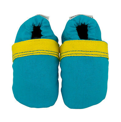NEW Boldly blue fabric baby shoes by Cheeky Little Soles