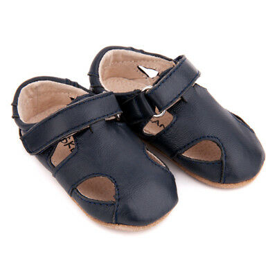 NEW Pre-walker leather Sunday sandals in navy Boy's by SKEANIE