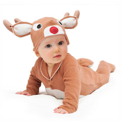 NEW Red-nosed reindeer baby & toddler costume with hat by Lil' Creatures