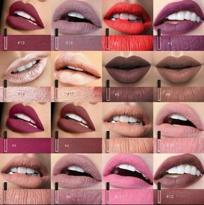 Waterproof Lipstick Liquid Matte Luxury Long Lasting Gloss 47Colors Focallure