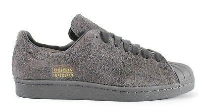 new style a5dc2 9e8db NEW MENS ADIDAS Superstar 80S Clean Casual Shoes Bz0566 Grey Suede